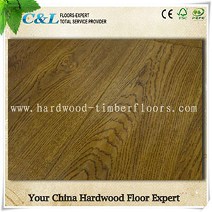 Wire Brushed Oak Engineered Harwood Flooring pictures & photos