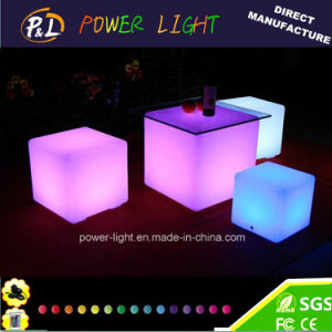 Outdoor RGB LED Cube with Solar pictures & photos