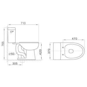 Cupc Siphonic Wc Bathroom Toilet Seat Ceramic Toilet pictures & photos