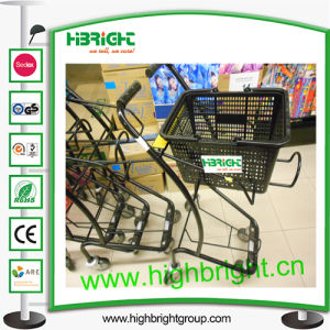 Double Supermarket Basket Trolley Cart pictures & photos
