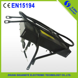 Shuangye Rear Rack 36V 10ah/48b 10ah Lithium Electric Bike Battery pictures & photos