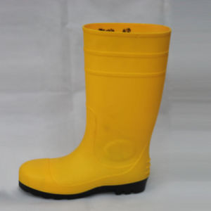 Yellow Rain Boots (Yellow upper/Black Sole) . pictures & photos