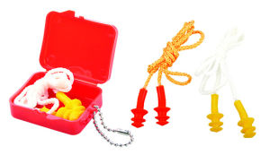 Safety Corded Silicone Earplug Ge005-2 pictures & photos