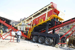 Mobile Jaw and Cone Crushing Plant pictures & photos