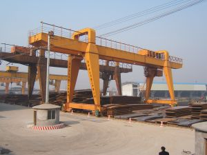 Steel Invetory Yard a-Shape Gantry Crane (MG) pictures & photos