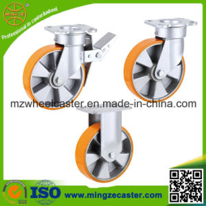 Aluminium Center PU Caster for Handing Equipment pictures & photos