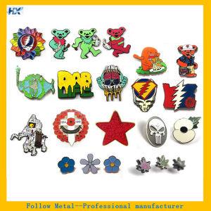 Customized Logo Hard Enamel Silver Plating Label Pin pictures & photos