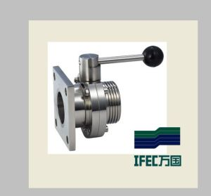 Sanitary Flanged Butterfly Valve (IFEC-DF100002) pictures & photos