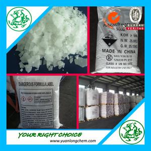 Factory Price Potassium Hydroxide/Caustic Potash KOH 90%