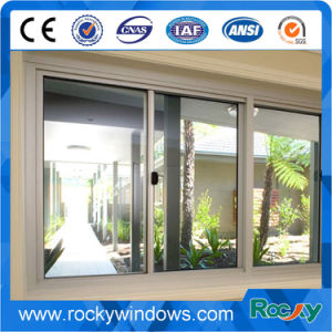 High Quality Champagne Color Aluminum Sliding Window pictures & photos