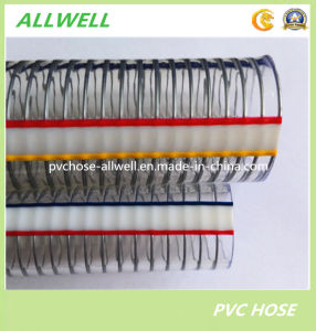 "PVC Steel Wire Reinforced Hose Pipe for Industrial Discharge Water Pipe Hose 1/2"" 1"" 2′ 3"" pictures & photos"