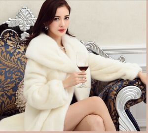 Cheap clothing stores – White fur coats for women
