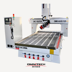 Rotating Spindle Woodworking Machinery 4 Axis CNC for Furntiure pictures & photos