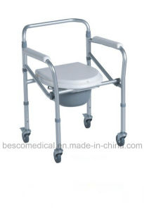 Lightweight Aluminum Commode Chair with 5′′ Castor (BES-CC04A)