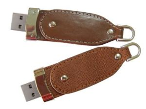 Bootable Clip-off Leather USB Flash Device pictures & photos