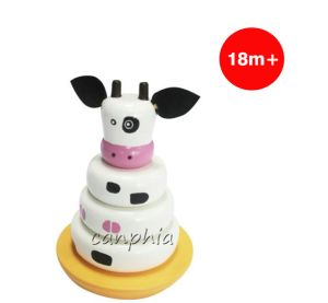 Wooden Children Cow Stacking Stacking Rings Toy pictures & photos