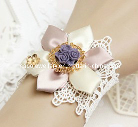 Satin Flower with Lace Lady Bracelet (XBL12707) pictures & photos