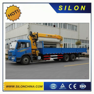 10 Ton Trucks Mounted Crane Hoist Telescopic Boom Silon Sq10sk3q pictures & photos