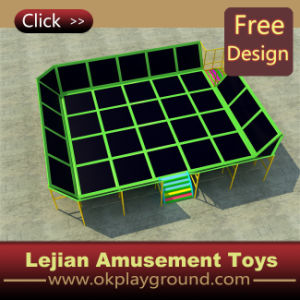CE Combined with Soft Play Trampoline (TP1501-3) pictures & photos