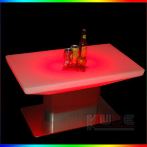 Cocktail Table LED Color Changing Furniture with Remote Control & Charger pictures & photos