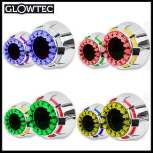 2.5inch Double Angel Eyes LED Bi-Xenon HID Projector Headlight Lens Lotus Model