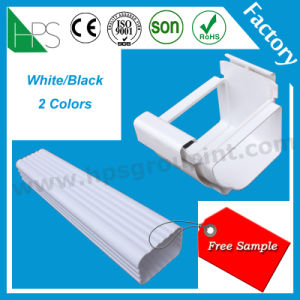 PVC Pipe Downspout Fitting Plastics Rain Gutter Water Connector pictures & photos