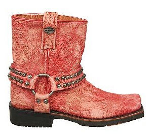 Red Leather Motorcycle Boots for Women 2015 pictures & photos