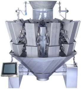 Multi 10 Head Weigher for Wet or Sticky Products pictures & photos