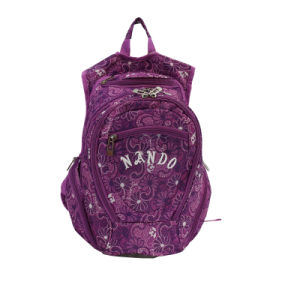 Fashion Purple Printing School Backpack pictures & photos