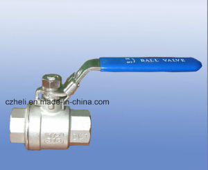 Light Stainless Steel 2PC Ball Valves with Thread Ends 1000psi pictures & photos