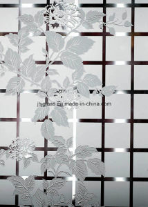 Acid Dorative Glass, Frosted Glass for Window, Door 3mm-6mm pictures & photos