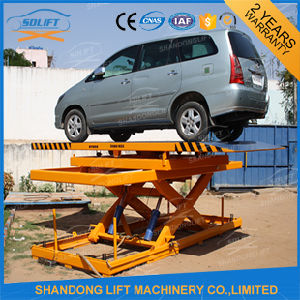 Hydraulic Floor Scissor Car Lift Platform for Home Garage or Parking pictures & photos