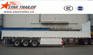 3 Axles Drop Side Semi-Trailer pictures & photos
