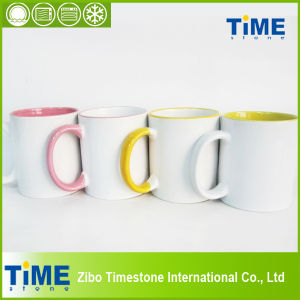 Cheap Stoneware Sublimation Mug for Promotion pictures & photos