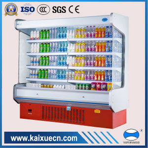 Supermarket Showcase Refrigerator for Fruit, Vegetable and Dairy