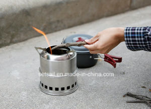Light Weight Wood Gas Backpacking Camping Stove
