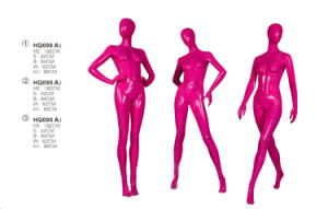 Hot Sexy Female Mannequins, Full-Body Rose Red Fiberglass Female Mannequins pictures & photos