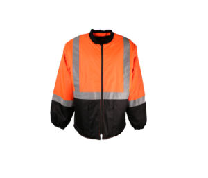 Hi-Vis Orange Mens Safety Reflective Waterproof Jacket with 2′′ Reflective Tape pictures & photos