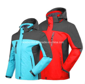 Winter Outwear Ski Snowboard Waterproof Warm 3 in 1 Mountain Jacket pictures & photos