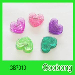 Mini Plastic Heart Paper Clips (GB7010)