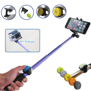 Remote Shutter Mini Aluminum Bluetooth Selfie Stick with Smartphone pictures & photos