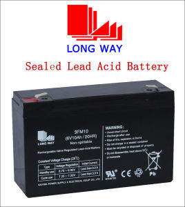 6V10ah Solar Backup Battery with Good Quality and Standard Terminal pictures & photos