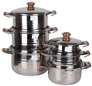 12PCS Set Stainless Steel Stock Pot pictures & photos