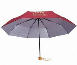 3 Fold Umbrella 170t Polyester Silver Coated (BR-ST-147) pictures & photos