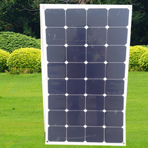 China Competitive Price High Efficiency PV Sunpower 18V 100W Semi Flexible Solar Panel pictures & photos