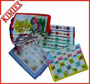 Wholesales Cheap Cotton Sauare Printed Gift Handkerchief pictures & photos