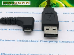 USB2.0 to Micro USB Cable 90 Degree Angle pictures & photos