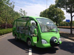New 23 Seats Battery Power Electric Tourist Bus for Sale pictures & photos