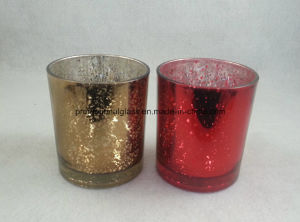 Laser Engraved Metallic Glass Candle Holder pictures & photos