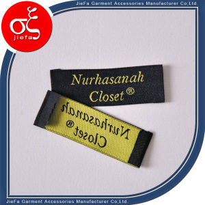 High Desity Damask Woven Label for Clothing pictures & photos